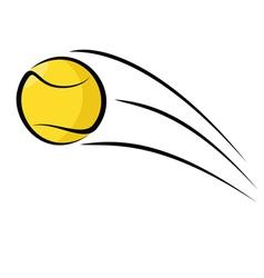 Tennis ball sketch vector image