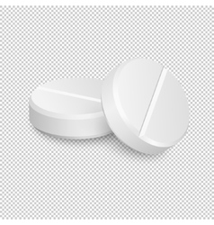 Two realistic medical pill icons vector image