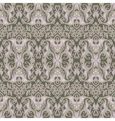 Vintage damask seamless pattern background vector image vector image