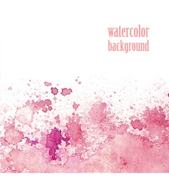 Watercolor background for layout pink splashes vector