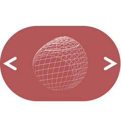 wire-frame design element sphere vector image