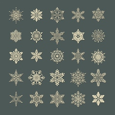 Snow flakes set 1 vector