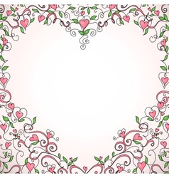 Heart-shaped frame vector