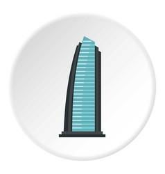 Egypt beach resort icon circle vector