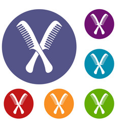 Combs icons set vector