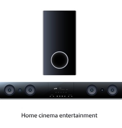 Soundbar panel with subwoofer vector