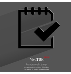Notepad paper documents flat modern web button vector