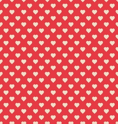 Seamless pattern red with hearts vector