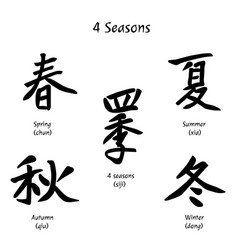 4 seasons vector