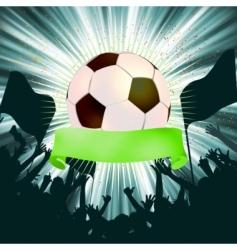 grunge soccer ball background  vector image