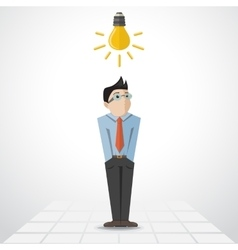 Man with lamp vector
