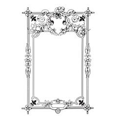 Vintage style frame vector