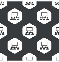 Black hexagon audience pattern vector