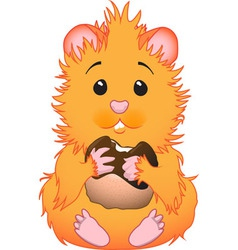 cute hamster vector image