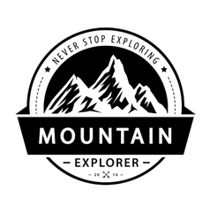 Mountain logo emblem adventure retro vector