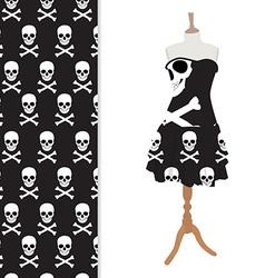 Black halloween dress vector image