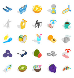 amirate icons set isometric style vector image vector image