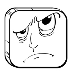 An angry face in a cube vector image vector image