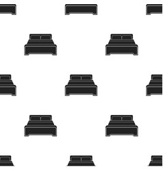 Bed icon in black style isolated on white vector