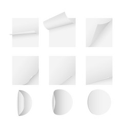 blank white paper sheet with page curl vector image