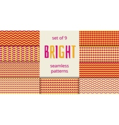 Bright orange and pink waves scales seamless vector