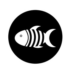 Cute fish mascot icon vector