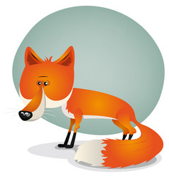 cute fox character vector image vector image
