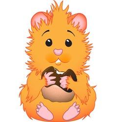 cute hamster vector image