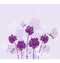 Decorative nature violet background vector image vector image