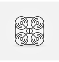 Drone icon or logo vector image vector image