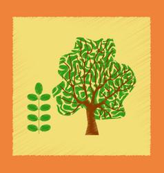 Flat shading style plant acacia vector