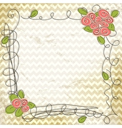 floral doodle frame vector image vector image