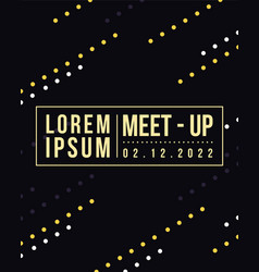 Geometric cover design meet up card collection vector