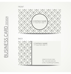 Geometric cube monochrome business card template vector image