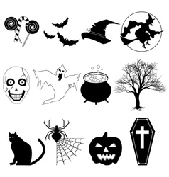 Halloween Black and White vector image