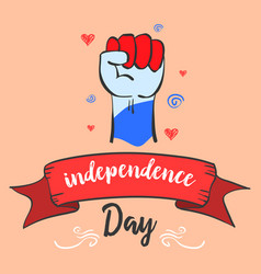 Independence day card style celebration vector