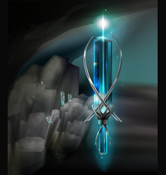 Magical amulet vector
