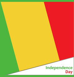 Mali independence day vector