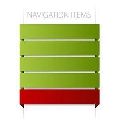 modern navigation vector image vector image