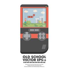 Old gadget flat vector