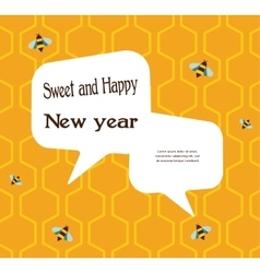 pattern of the bee on honeycombs background for vector image
