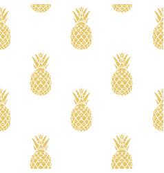 pineapple golden vector image vector image
