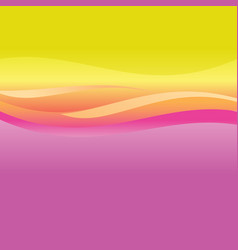 pink and orange abstract waves vector image