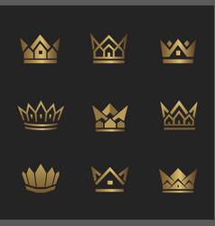 real estate crown2 vector image vector image