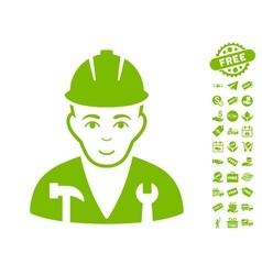 Serviceman icon with free bonus vector