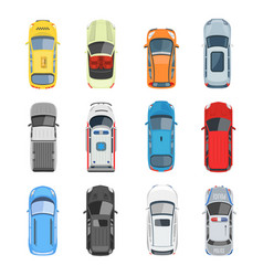 set of car top view set vector image vector image