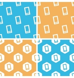 Smartphone pattern set colored vector image