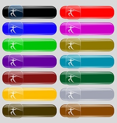 Summer sports javelin throw icon sign set from vector