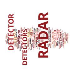 The car radar detector debate to legalize or not vector