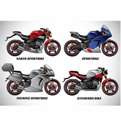 types of motorcycle part 1 vector image